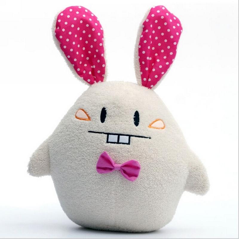 40cm lovely Buck teeth rabbit plush toy,cute plush rabbit pillow peluche stuffed toy,kawaii animal peluches plush toy(China (Mainland))