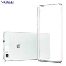 Yihailu TPU Case for Huawei Ascend P8 Crystal Clear Case Transparent Silicon Ultra Thin Slim TPU Cover For Huawei Ascend P8 LITE(China (Mainland))