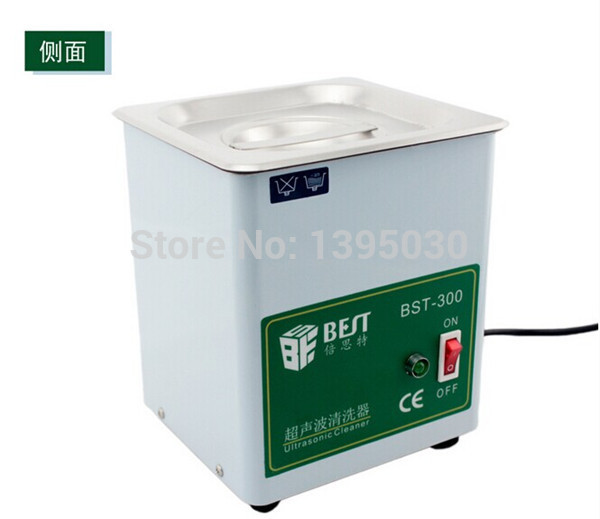 1pc BST-300 Stainless Steel Ultrasonic Cleaner Ultrasonic Cleaning Machine Capacity 1.8L (150X137X100 mm)220V 50W(China (Mainland))