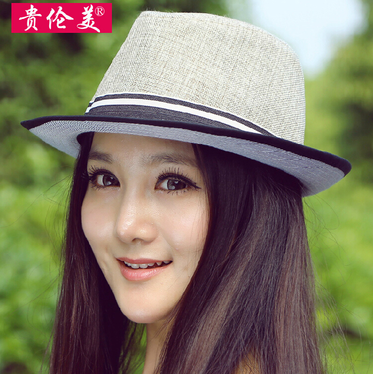 Fashion women strawhat sun-shading summer style sunscreen spring outing hat straw braid fine linen comfortable and breathable(China (Mainland))