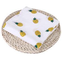 Nosii 110x110cm Newborn Baby Fruit Plant Animal Cotton Soft Muslin Swaddle Shower Bath Towel Blanket Wrap Cloth Bedding Cover(China)