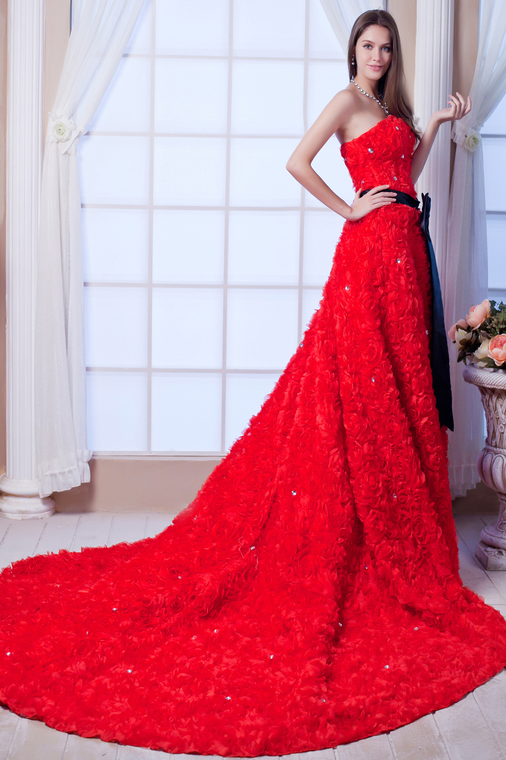 Wedding Dresses Color Red : Wedding dress in dresses from weddings events on aliexpress