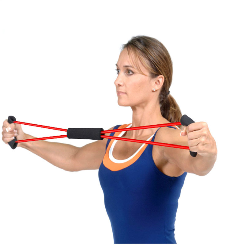 Resistance Training Bands Tube Workout Exercise for Yoga 8 Type Fashion Body Building Fitness Equipment Tool Hot Sale(China (Mainland))