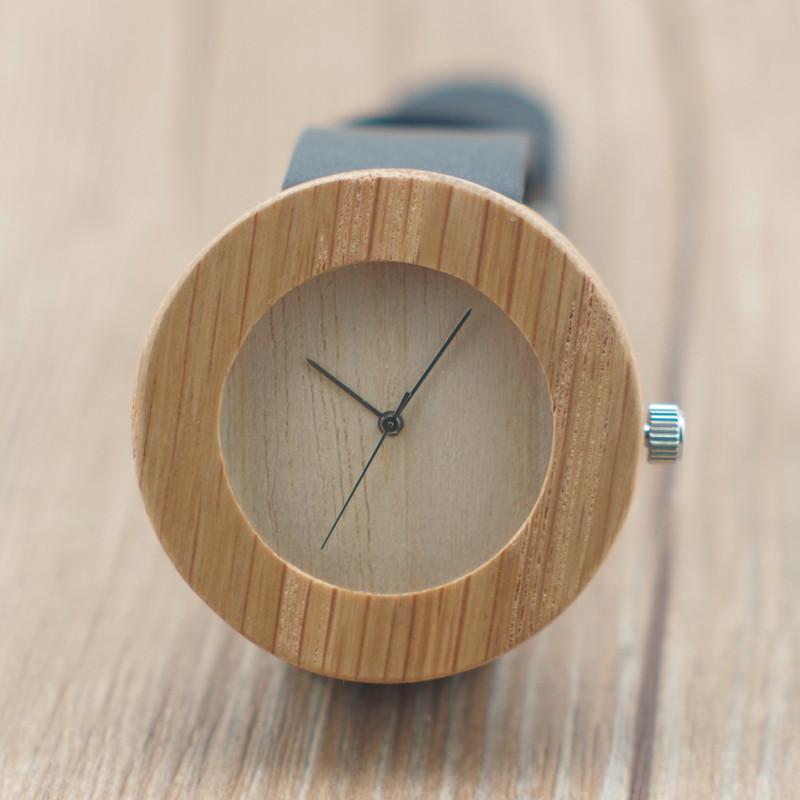 women leather sanders wooden watches japanese 2035 movement Bamboo wristwatches men - ShenZhen GlobalPower Industry Co., LTD. store