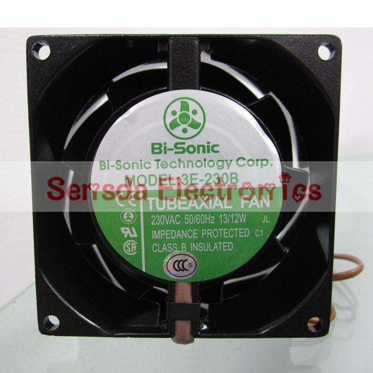 Bi-Sonic 3E-230B 8038 230VAC full metal high temperature 80mm 3100RPM case fan