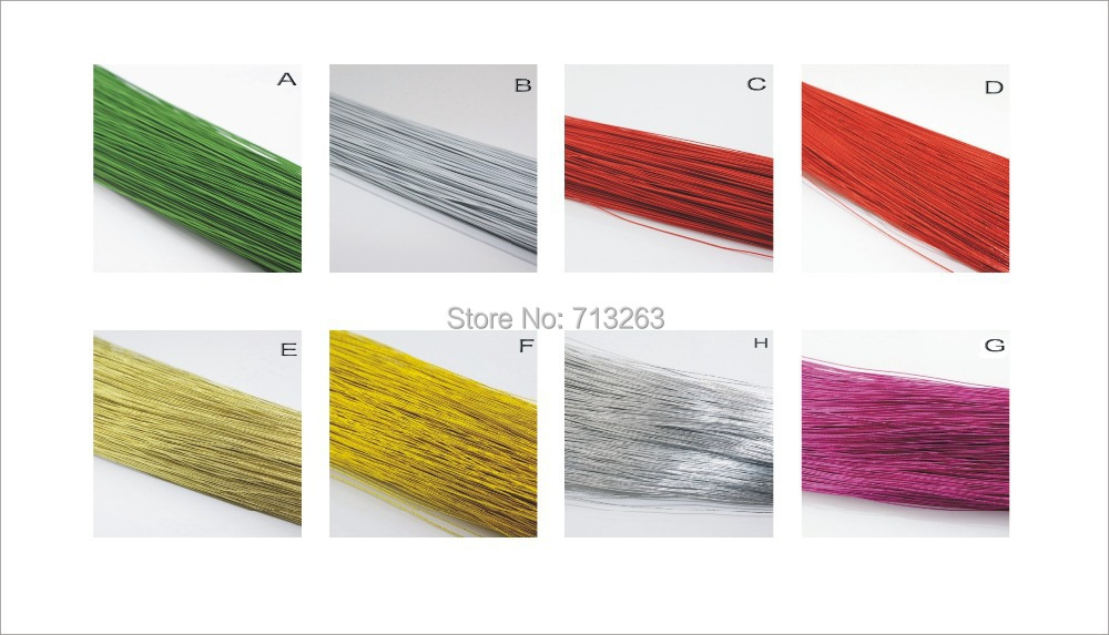 wholesale 26# Multicolor nylon stocking iron wires stocking flower accessory 8 colors for selection(China (Mainland))