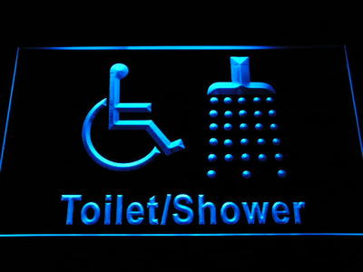 i1039-b Disabled Shower Change Room Handicap Wheelchair Accessible LED Neon Sign Wholesale Dropshipping(China (Mainland))