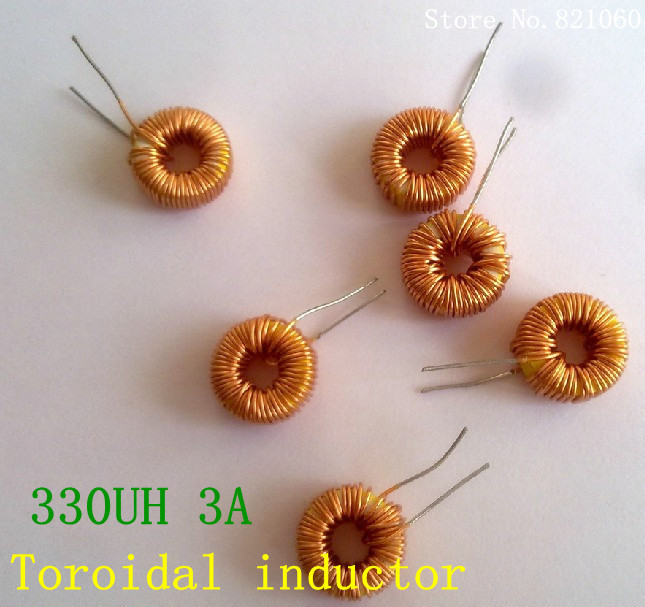 5pcs/lot naked 330UH 3A Toroidal inductor winding inductance magnetic ring inductance (lm2596 dedicated)(China (Mainland))