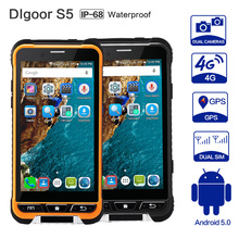 DIgoor S5 IP68 Rugged Card 3GB+32GB 8MP Camera 3200mah Battery Smartphone Android5.1 waterproof shockproof 4 g LTE4.7″ NFC S6 S8