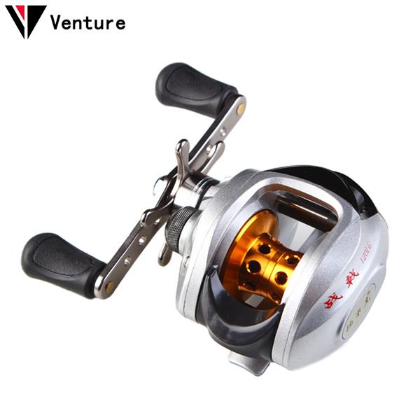 Venture ZJ 120LG 6.3:1 10BB Fishing Baitcasting Reel Water Drop Wheel Left/Rigth Handed Lure Reel Bait Casting Fishing Reels