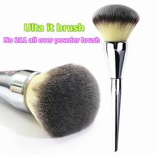 Brand Silver Metal Professional Makeup Brushes Ulta it all over powder brush 211 kit pinceis maquiagem make up brushes.(China (Mainland))