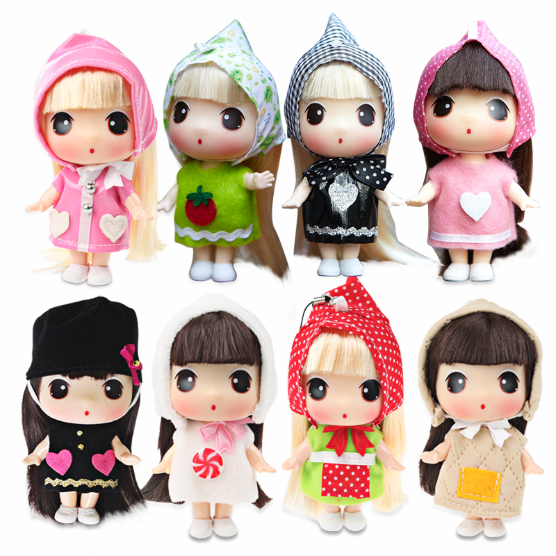 Freeshipping authentic Korean ddung confused doll 11cm Super Mini cute doll Phone bag car key pendant jewelry Toys and Gifts(China (Mainland))