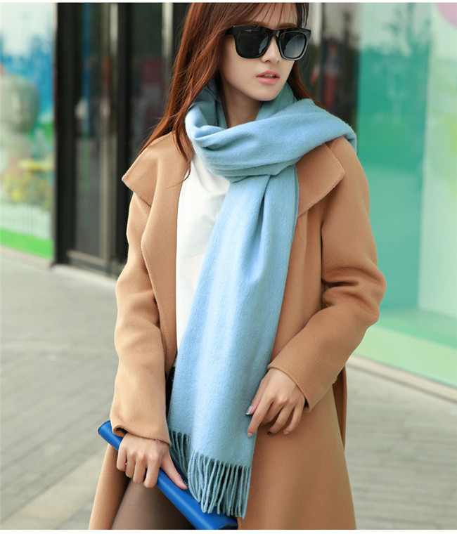 Classic fashion brand 100% purecolor cashmere scarf fall and winter warm shawl teamed the original single(China (Mainland))
