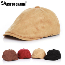 Hot Sales!!Super Cool Leisure Leather Child Hat Kid Cap Fashion Baby Beret Cotton Boy Cap Comfortably Adjusted Size Solid(China (Mainland))