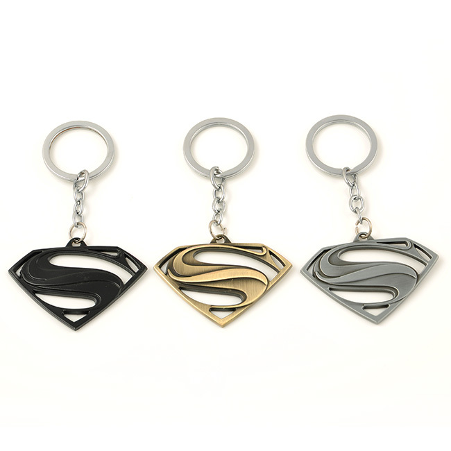 Euramerican Style The Avengers Series Moives Theme Superman Logo Keychain For Keys Trinket Key Holder Present