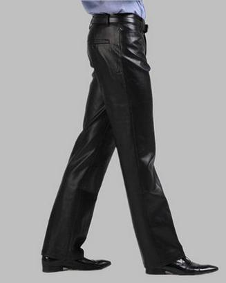 Spike ! Black Personalized pu trousers mens motorcycle leather pants famous brand casual 1 men dress slim fit - Fashion clothes store wang