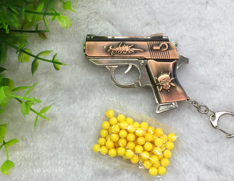 "2016 hot Children's metal imitation guns Mini alloy military model pistol weapon Children toy launch ""bullet"" - KuangWang Store store"