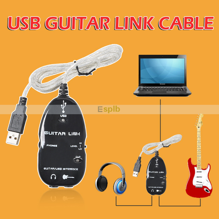 Guitar Accessories USB Guitar Link Cable Guitar To PC USB Interface Audio Link Cable(China (Mainland))
