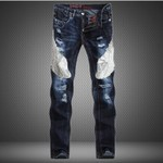 Hot Sale White Mens Jeans 2016 New Arrival Ripped Jeans Famous Brand Designer Jeans High Quality Elastic Skinny Jeans(China (Mainland))