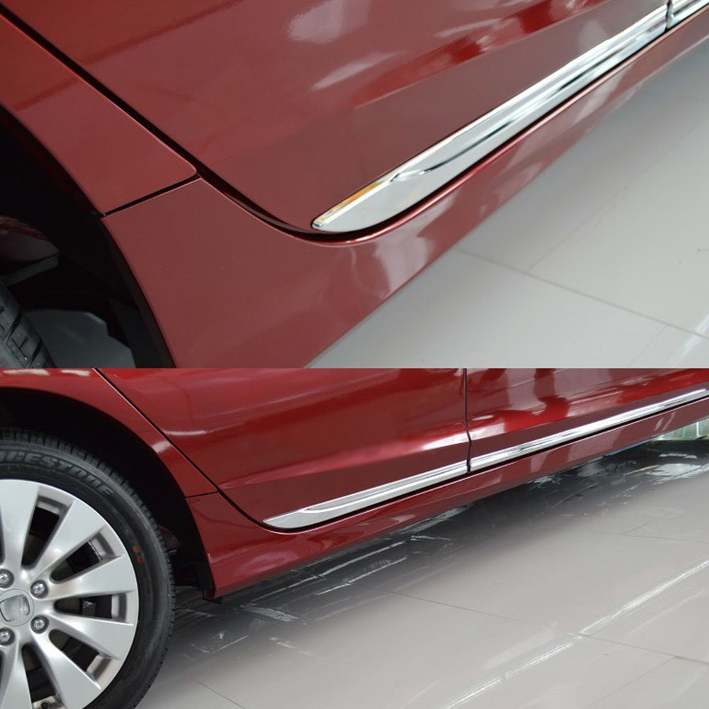 Chrome Body Side Door Moulding Trim Overlay Cover For Honda Accord Mk9 2013 2014 In Chromium