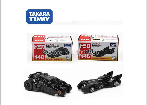 2PCS/LOT Tomica tomy dark knight batman old / new batmobile diecast figure tumbler vehicle toy car model classic toys baby toy(China (Mainland))