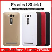 Original NILLKIN Super Frosted Shield Case for ASUS Zenfone 2 Laser ZE500KL 5.0 inch back cover matte shell + Screen Film(China (Mainland))