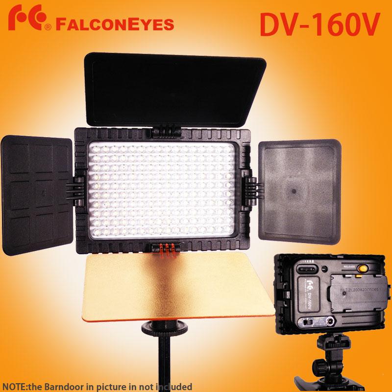 FALCON EYES DV-160V High CRI95 160 LED Video Light for Canon Nikon Sony Panasonic DV Camcorder DSLR Cameras<br><br>Aliexpress