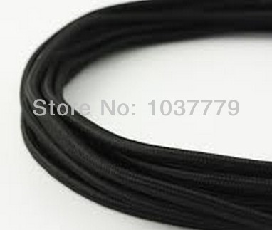 FREE Shipping 2x0.75mm2 Textile Braided Power Cable black color(China (Mainland))