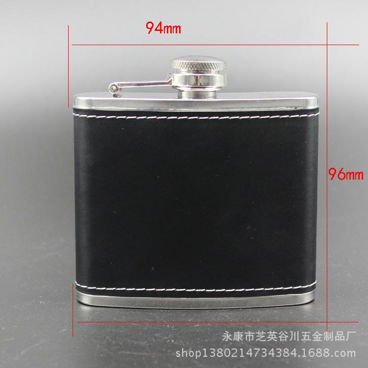 100pcs/lot Potable 5oz Hip Flask Screw Cap Funnel Cap Stainless Drink Liquor Whisky Alcohol H1E1(China (Mainland))