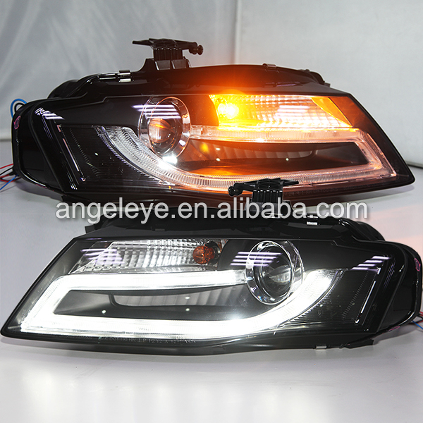headlights for audi a4 b8 led front light head lamp for a4. Black Bedroom Furniture Sets. Home Design Ideas