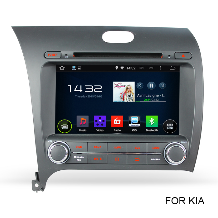 Latest Pure Google Android 4.4 Car PC Vehicle GPS For Kia CERATO K3 FORTE with Capacitive Screen Built-in WIFI DVD RDS OBD2(China (Mainland))