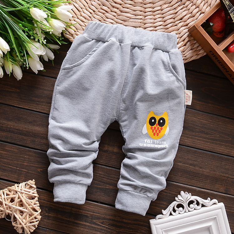 lovely owl autumn kids pants cotton children pants baby boys trousers harem pants RG56(China (Mainland))