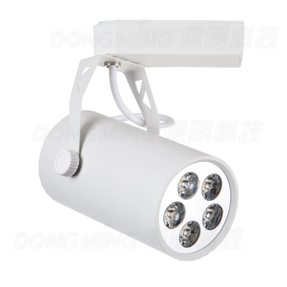 Free Fedex Shipping 5pcs/lot 5w LED Track Light White/Black CE&RoHS 560LM AC85-265V Warm white/white LED Rail Lamp(China (Mainland))
