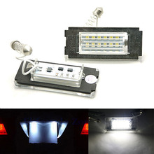 2Pcs Error Free 18 3528 SMD LED License Plate Light Lamps Bulbs Car Accessories fit for MINI COOPER S CLUBMAN R56 R57 R58(China (Mainland))