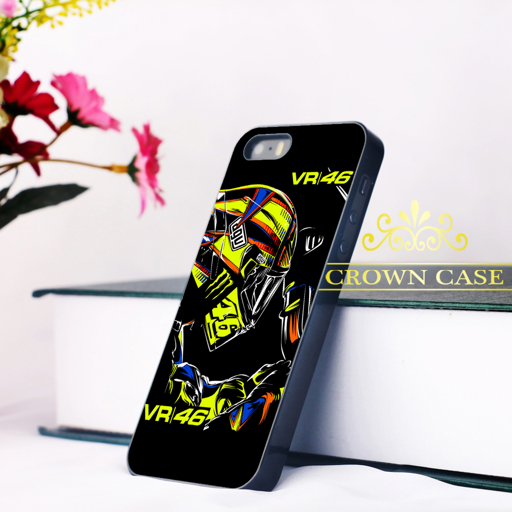 Coque Black VALENTINO ROSSI VR46 MOTOGP Case for iPhone 5S SE 5C 5 4S 4 6 6S Plus Cover for iPod Touch 5 for iPod Touch 6 Case.