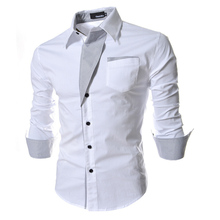 New 2015 fashion Men dress shirts High quality long sleeve men shirt slim fit Men's clothing chemise homme 4 colors CY21