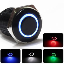 Buy Car modified switch button 12V angel eye switch LED lights Metal button Self-locking switch 16MM for $6.55 in AliExpress store