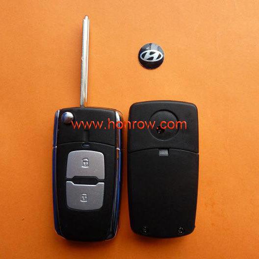 Hyundai Elantra 2 button modified flip remote key blanks wholesale with free shipping