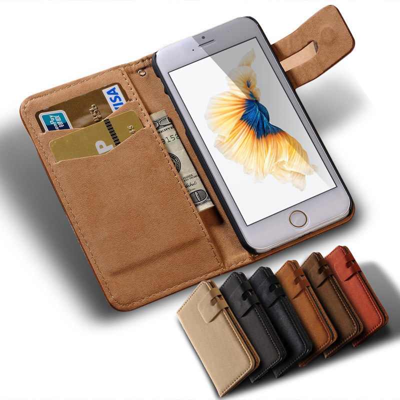 Luxury Leather Coque Case For iPhone 6 6S 6 S Capa Flip Wallet Book Soft Back Cover For i Phone6 Case Funda Stand Holder Capinha