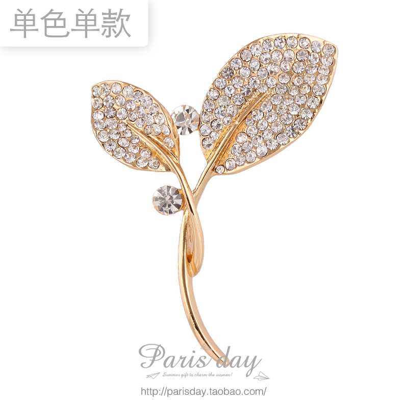 Free Shipping! New Arrival Fashion High Quality Rhinestone Crystal Personalized Bud Brooches Pin Corsage 3pcs/lot(China (Mainland))