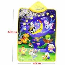 Детское игровое одеяло разных цветов, детское пианино с животными, музыкальное касание, Поющая, гимнастический коврик, игрушка, подарок, муз...(China)