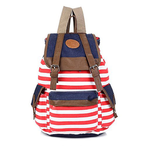 New Gift Striped Travel Rucksack School Bag Tracking No. & A Exclusive Gift(China (Mainland))