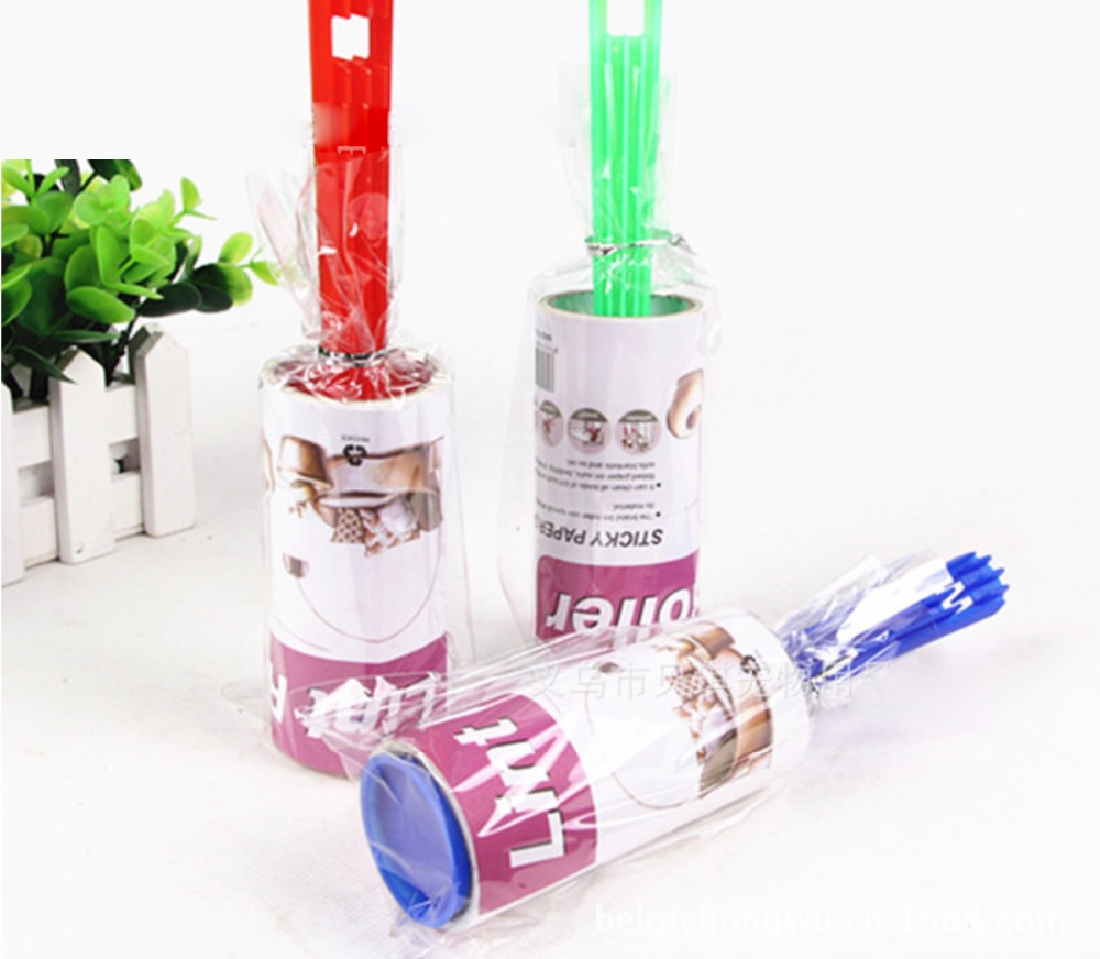 45x200mm,Pet cleaner,Detachable drum type pet hair sticking device,Tear apart 20 layers,Random color(China (Mainland))
