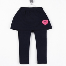 2015 autumn and spring girls trousers pants children simple letter clothing long trousers A0032(China (Mainland))