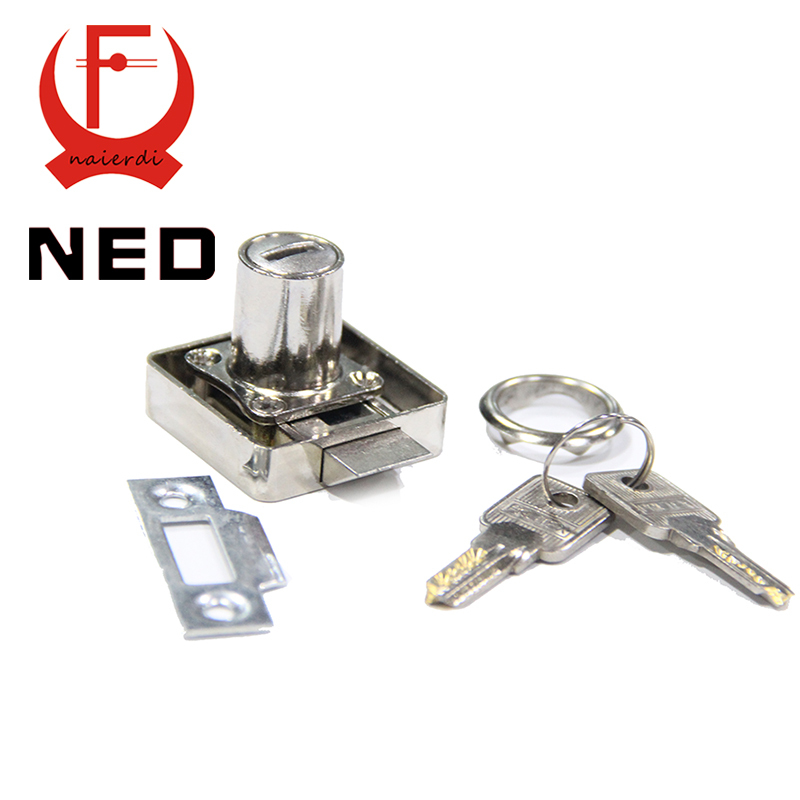 Top Quality Brand NED 338-22 Atuomatic Copper Furniture Drawer Locks Cabinet 19mm Lock Core 22 Thickness With Computer Keys(China (Mainland))