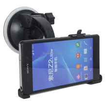 Free shipping FOR Sony Xperia Z3 Black Car Windshield Dashboard Mount Stand Holder Rotation Suction dock Cradle(China (Mainland))