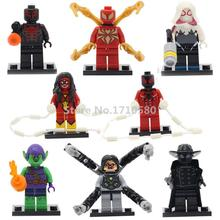 Marvel Super Heroes XINH 218 Doctor Octopus Minifigure Single Sale Marvel Spider-Man Building Block Model Toys For Children(China (Mainland))