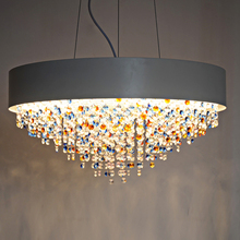 Free shipping Luxury oval design crystal chandelier modern lustres e pendentes living room L90*W20*H100cm crystal hanging lamp(China (Mainland))