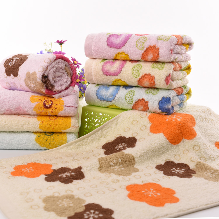 Factory direct towel high quality washing face floral towels set gym sport set towl hotel cheap beach bathroom towels(China (Mainland))