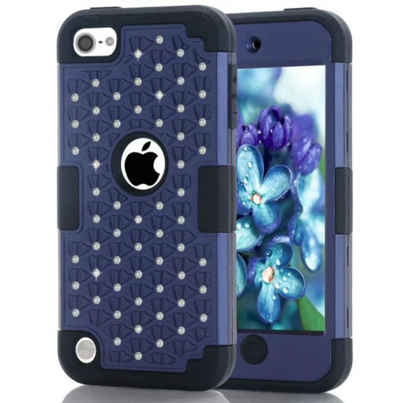 All Over The Sky Star Back Cover Case For iPod Touch 5 iphone 5c 6 6s Note 5 Simple Shiny Bling Diamond Design 3 in 1 Cover Case(China (Mainland))